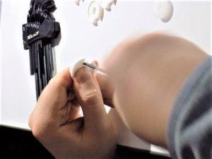 Limage d'une pièce pour le finger starter