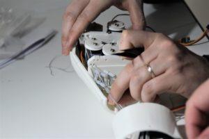 Réglage des fils de la main