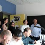 Photo lors de la visite des étudiantes de FCU du DU PEI (Préparation aux Études d'Infirmier(ères))