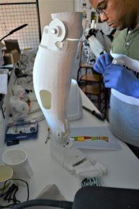 Assemblage de la jambe